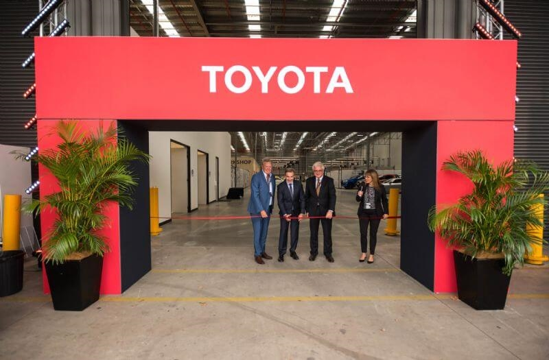 TMCA President & CEO Matthew Callachor opens the new training centre with dealers Ian Mayer (Chatswood & Ryde, left) and Casey Courtenay (Mudgee)