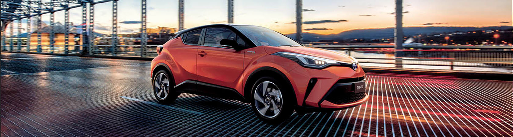 Orange Toyota C-HR