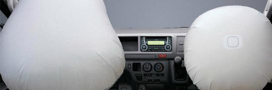 City Toyota HiAce Interior with Dual SRS Airbags