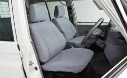 Phil Gilbert Toyota LandCruiser 70  Genuine Canvas Seat Covers