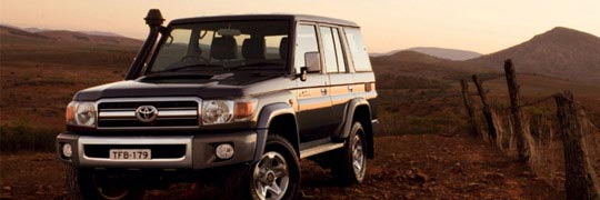 Phil Gilbert Toyota LandCruiser 70 Exterior Front Hard on the Outside