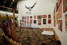 Room presenting Aboriginal items