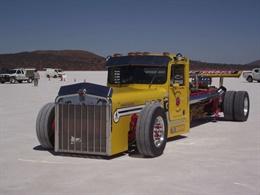 Yellow racing truck