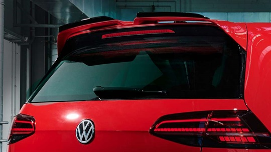 Roof Edge Spoiler with Racing Flaps