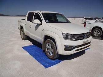 White Volkswagen pickup vehicle