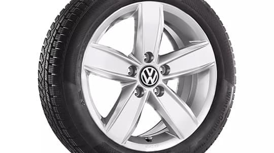 Silver dakar alloy wheel