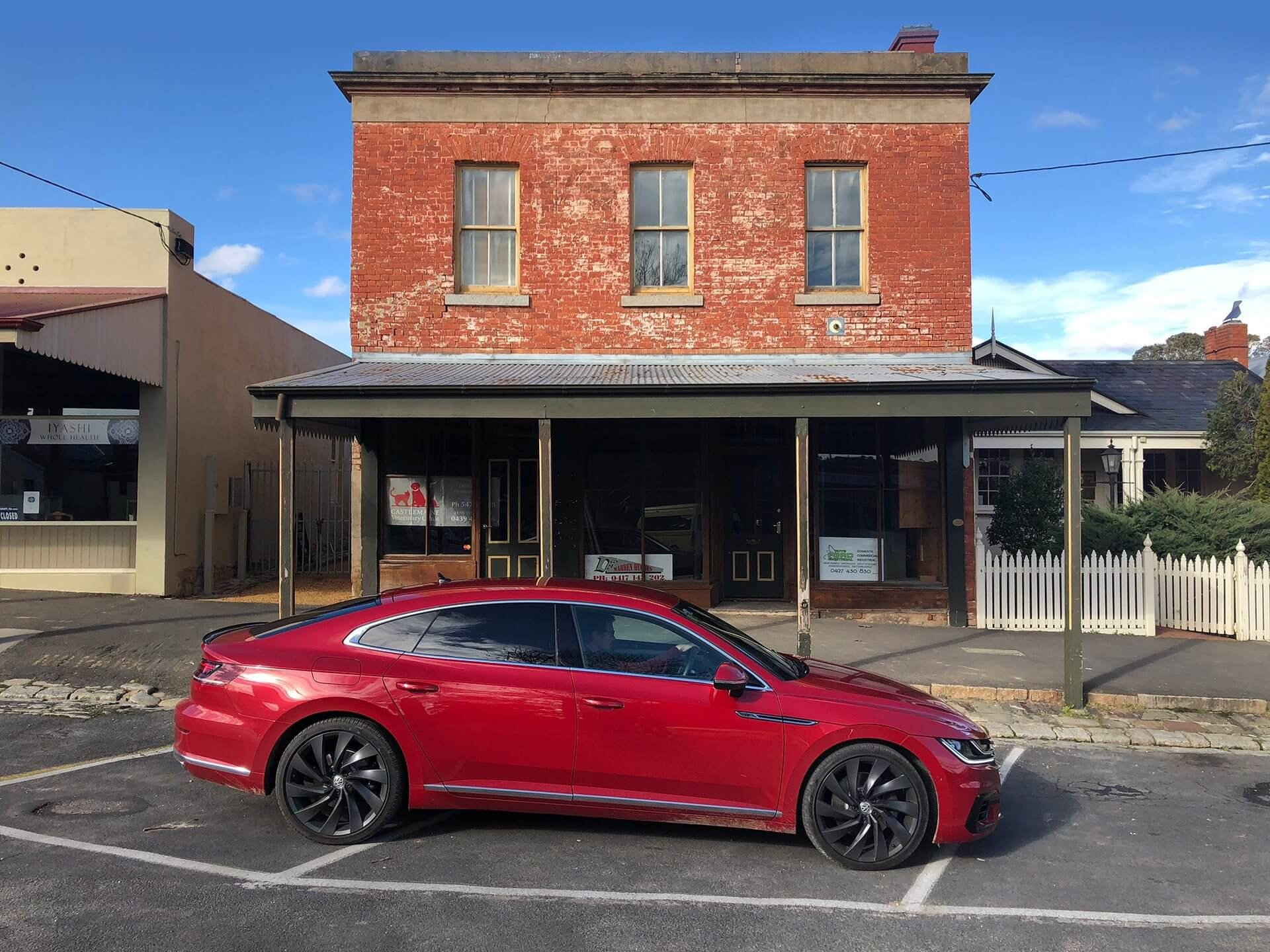 Red Arteon at Castlemaine
